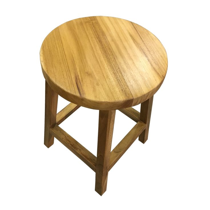 Round Teak Stool. A simply round and clean cut stool. Simplify the space.