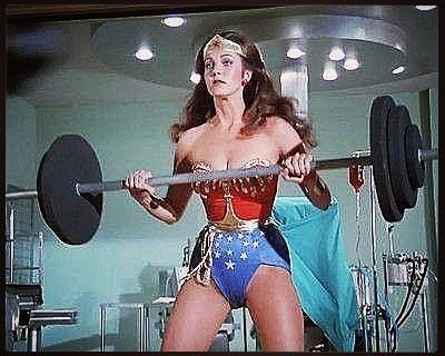 """This screenshot from the @reallyndacarter @wonder_woman_tvseries is the perfect visual combination of my two favorite hashtags: #WonderWomanWednesday and #WorkoutWednesday. If you read my latest """"WHAT WOULD WONDER WOMAN DO? about white supremacy"""" article then you'd also bring my third favorite hashtag #WisdomWednesday into the mix. Read it HERE:  http://ift.tt/2iCN7P5  #WonderWoman #classic #sexy #dccomics #ComicBooks #GalGadot #Equality #Love #trump #LyndaCarter #action #passion #women…"""