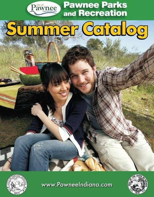 """When they made for the cutest Parks and Rec Summer Catalog cover ever: 