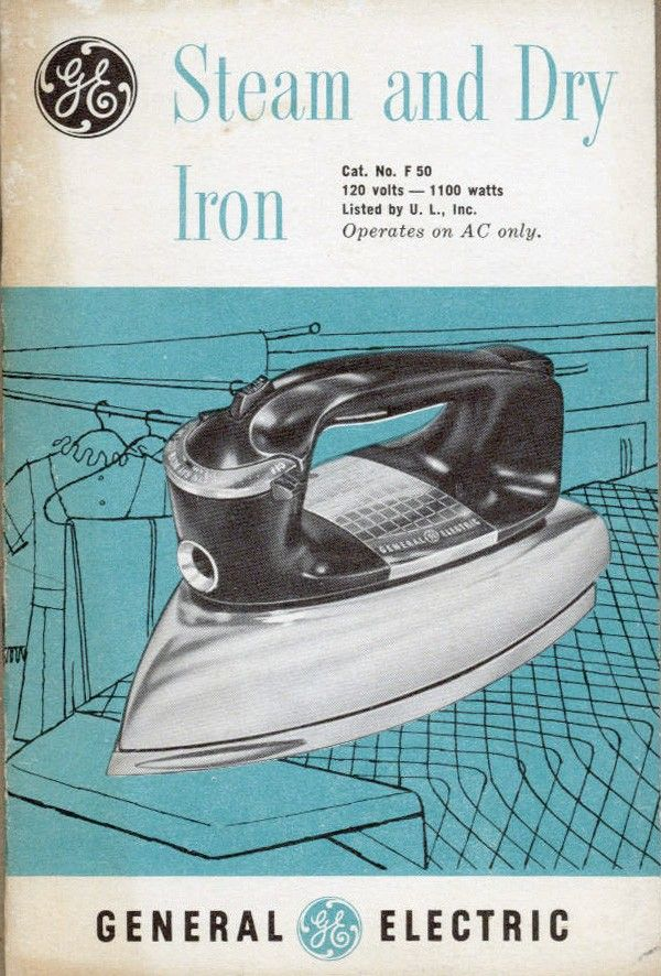 17 best ideas about general electric line diagram vintage appliance manual 1950s general electric steam and dry iron advertising ephemera
