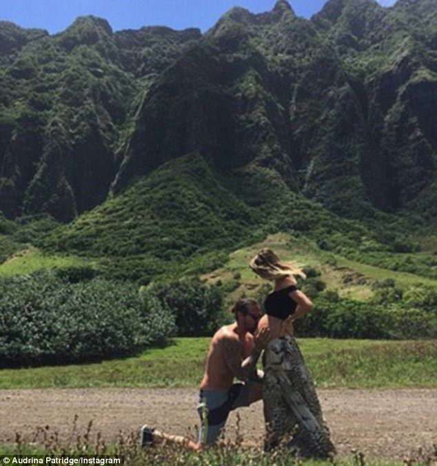 Audrina Patridge shows off her pregnant belly In Hawaii