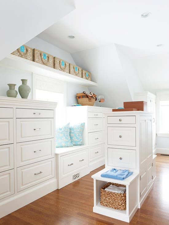 Now this is a closet!  LOVE the Built in dressers