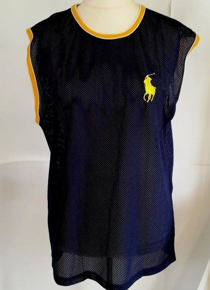 POLO RALPH LAUREN BIG PONY SHIRT blue  Sleeves Men size M #PoloRalphLauren #PoloRugby