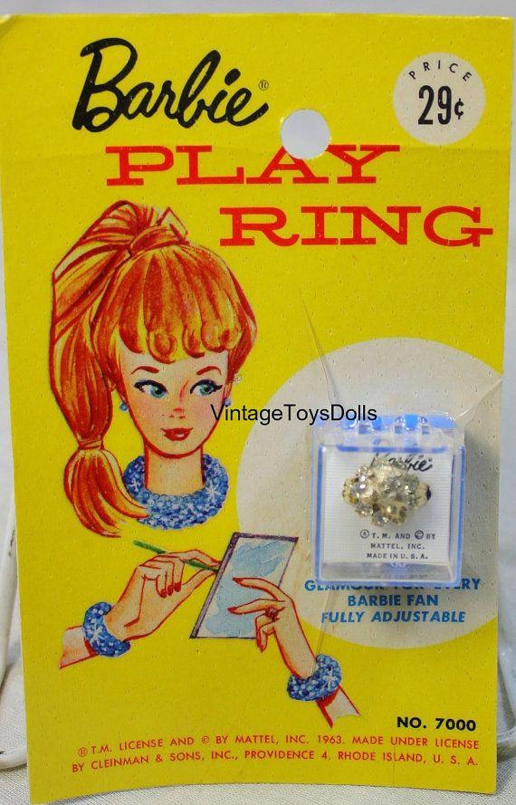 Vintage Barbie Doll Barbie Play Ring Jewelry by VintageToysDolls