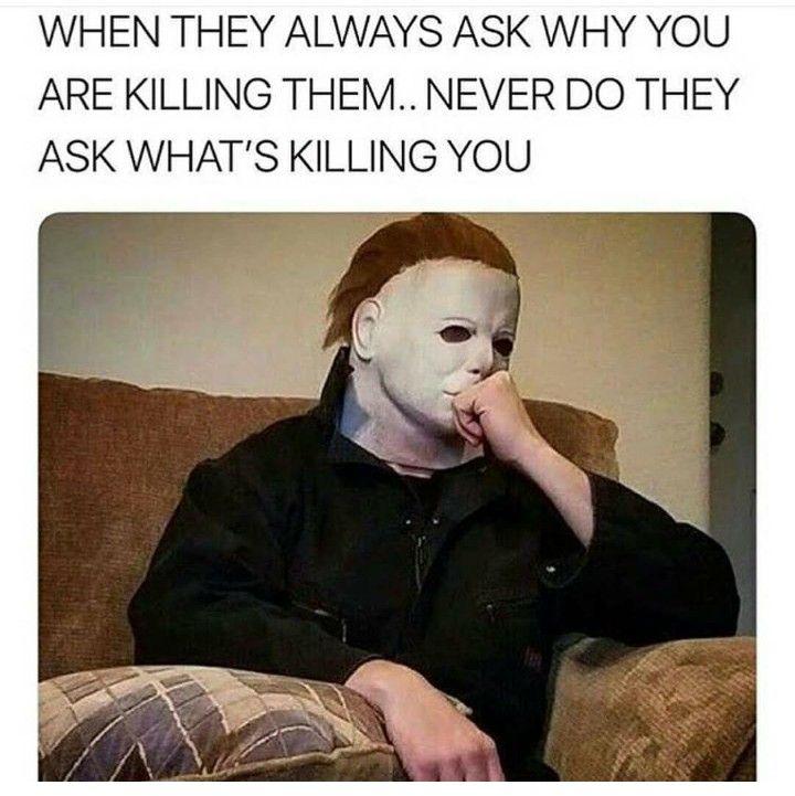 Pin By Jennifer Demarta On Horror Memes Funny Halloween Memes Horror Movies Memes Dark Humour Memes