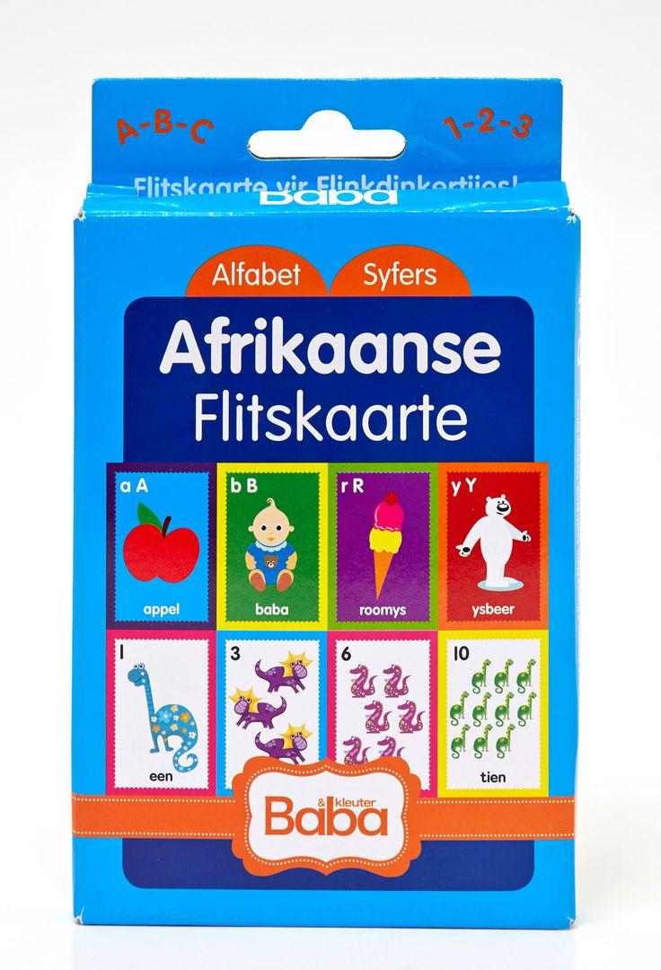 Baba & Kleuter se Afrikaanse flitskaarte: alfabet en syfers @ R25.