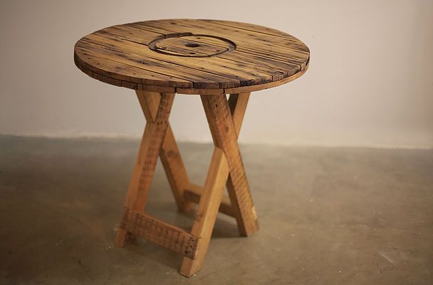 Rustic Patio Table #Cable Spool #Recycled #ToTheSouth