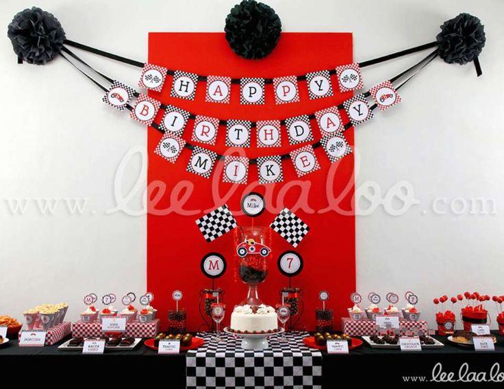 "Race / Birthday ""Vintage Race Car Birthday Party Theme - B1""   Catch My Party"