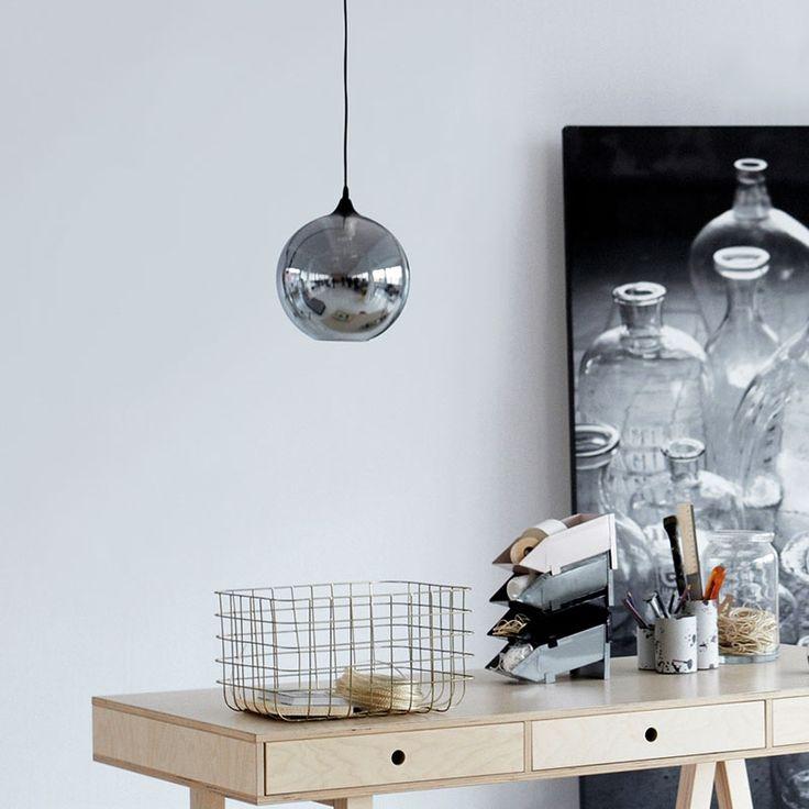 lampe circle grau mit textilkabel von house doctor 115 00. Black Bedroom Furniture Sets. Home Design Ideas