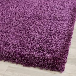 Cozy Solid Purple Shag Rug (9'6 x 13')