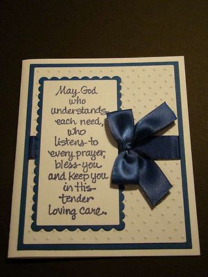 Handmade God Bless Greeting Card - You choose colors!