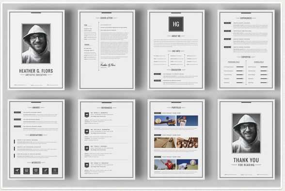 8 Pages Extended Resume CV MS Wordtextycafebest – Portfolio Word Template