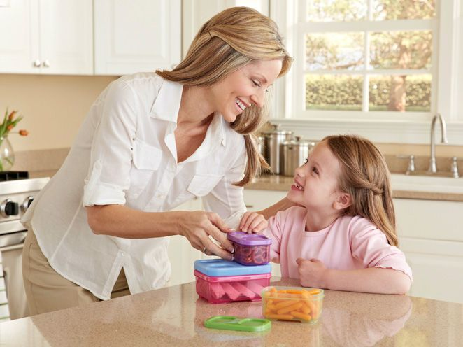LunchBlox™ Kids lunch containers for Flat Lunch Bags makes packing lunch easier than ever. Modular f....