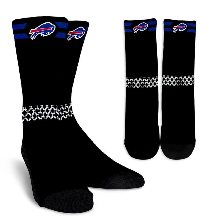 Round Striped Fascinating Sport Buffalo Bills Crew Socks – Best Funny Store