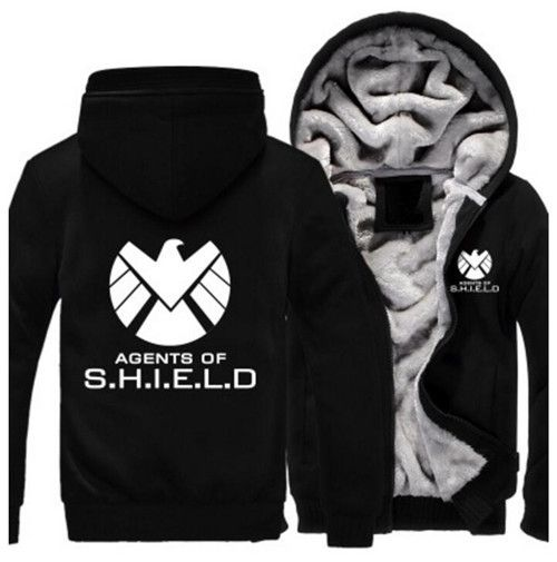 Agents of Shield S.H.I.E.L.D. Jacket Sweatshirts Thicken Hoodie Coat Clothing Casual