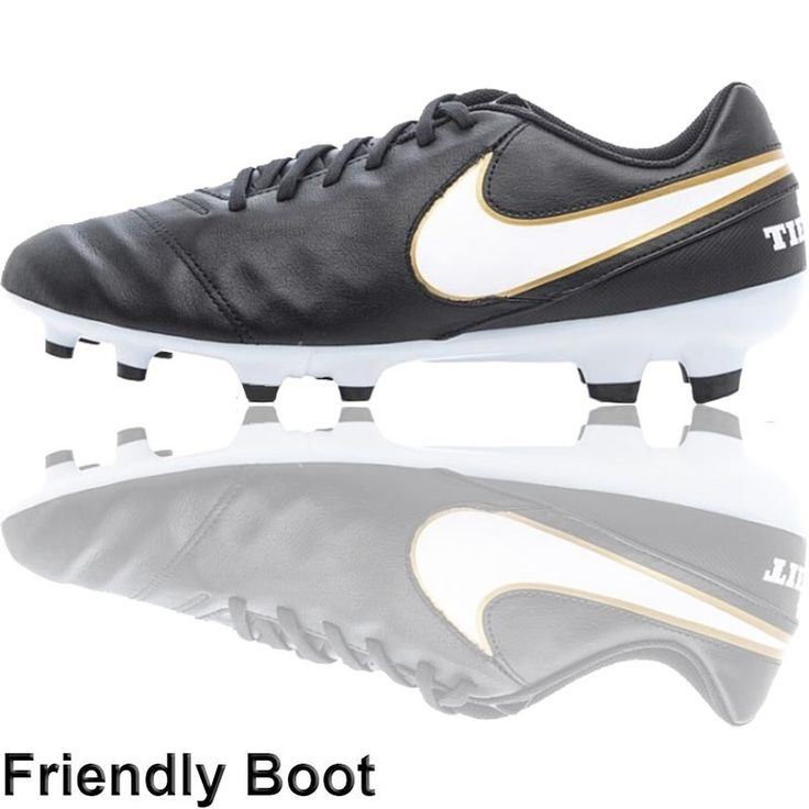The Football Nation Ltd - Nike Tiempo Genio II Boots (FG - Black/White/Gold), �49.99 (http://www.thefootballnation.co.uk/nike-tiempo-genio-ii-football-boots-fg-black-white-gold/)