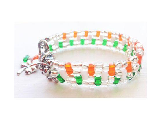 St Patrick's Day bracelet  multi-strand  by ShereesTrinketBox