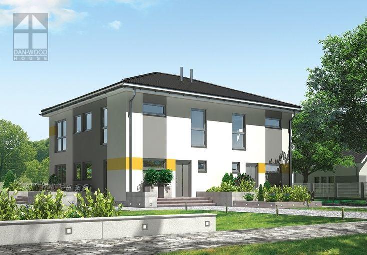 Doppelhäuser Danwood Partner 107W || #doppelhauser || http://www.danwood.de/hauser/doppelhauser/partner-107w