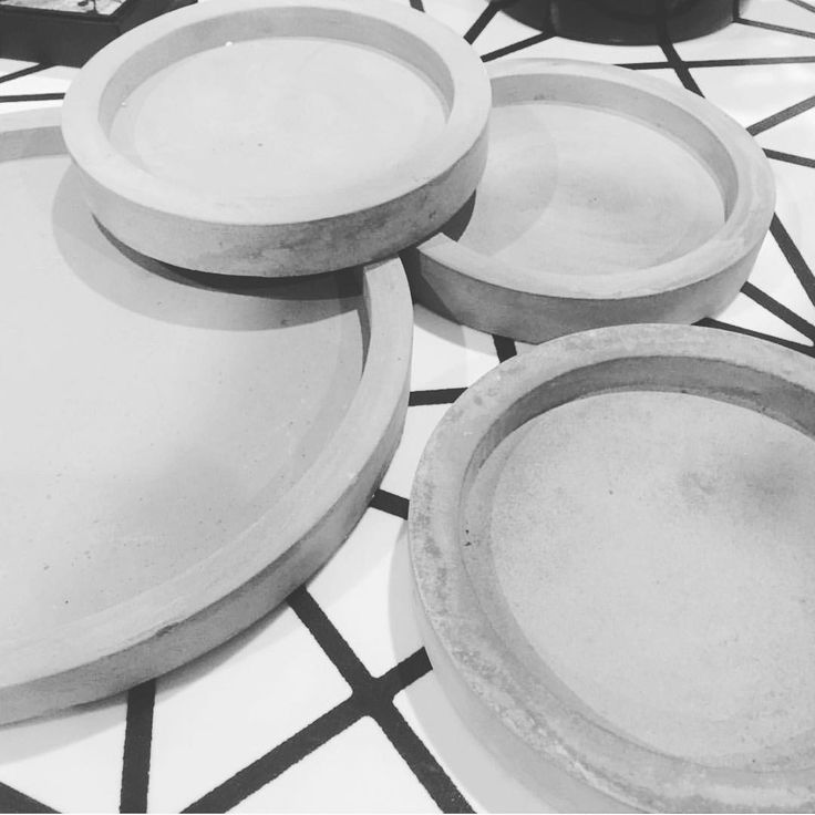 """ Concrete trays/saucers! 14cm $1, 23cms $3!! Kmart you seriously have up your game this new year, and we are loving it!! Photo credit: @shrni_ann #kmart…"""
