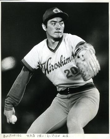 プロ野球公式戦、【巨人ー広島】広島カープ・北別府学投手