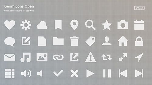 Geomicons Open Open Source Icons for the Web