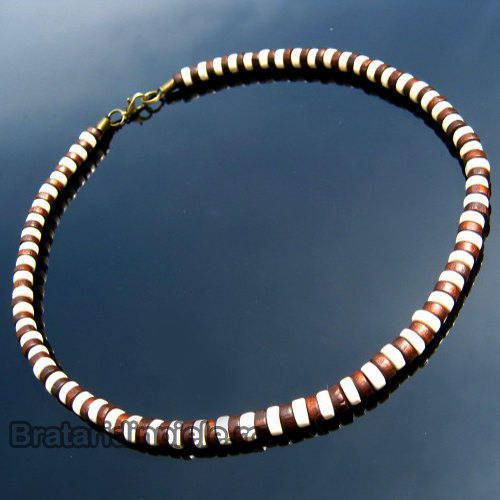Men Wood Necklace Surfer Necklace Tribal Jewelry Men Bead