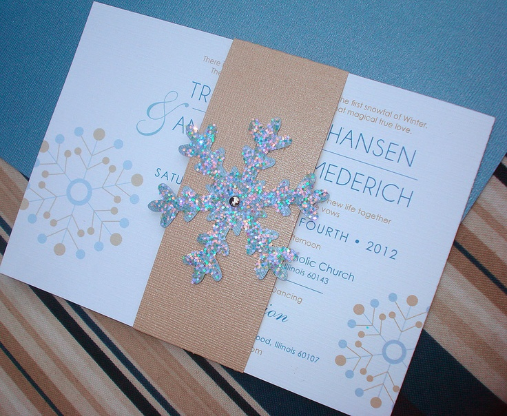 WINTER WONDERLAND TOO Snowflake Wedding Invitation - Sample. $6.00, via Etsy. | Wedding ...
