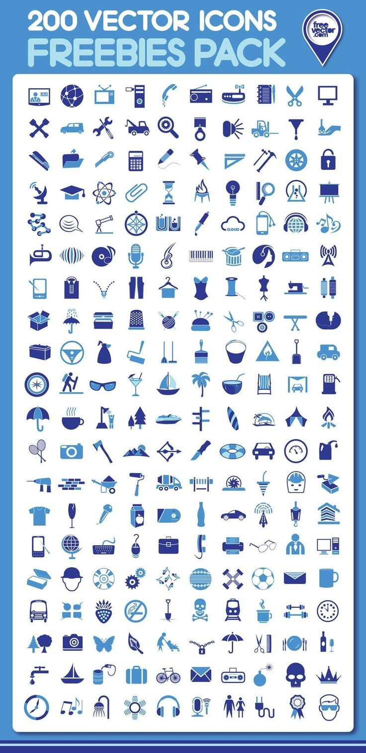 200 Free Vector Icons | I downloaded these, and really liked them!