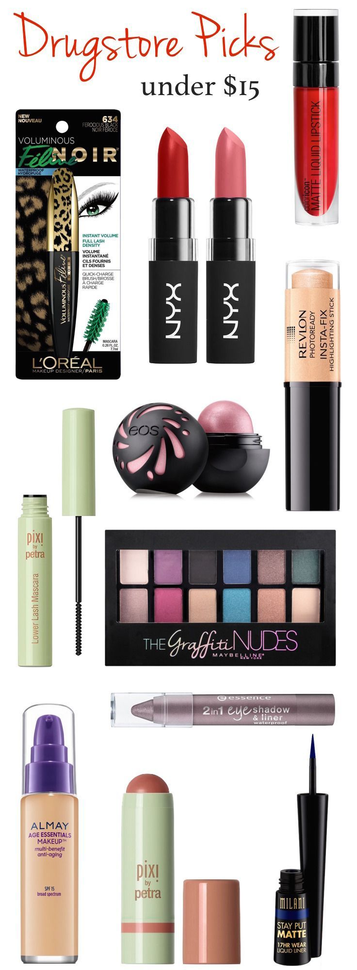New drugstore makeup for fall 2016! From a bold matte liquid lipstick (under $5!!) to a mascara especially created for lower lashes, here are 12 new drugstore makeup products coming your way this fall!