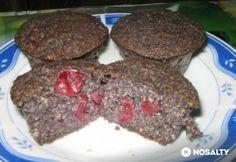 Meggyes - mákos muffin lisztmentes