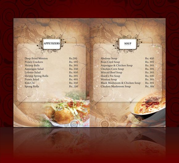 Menu Card Template Graphics and Templates