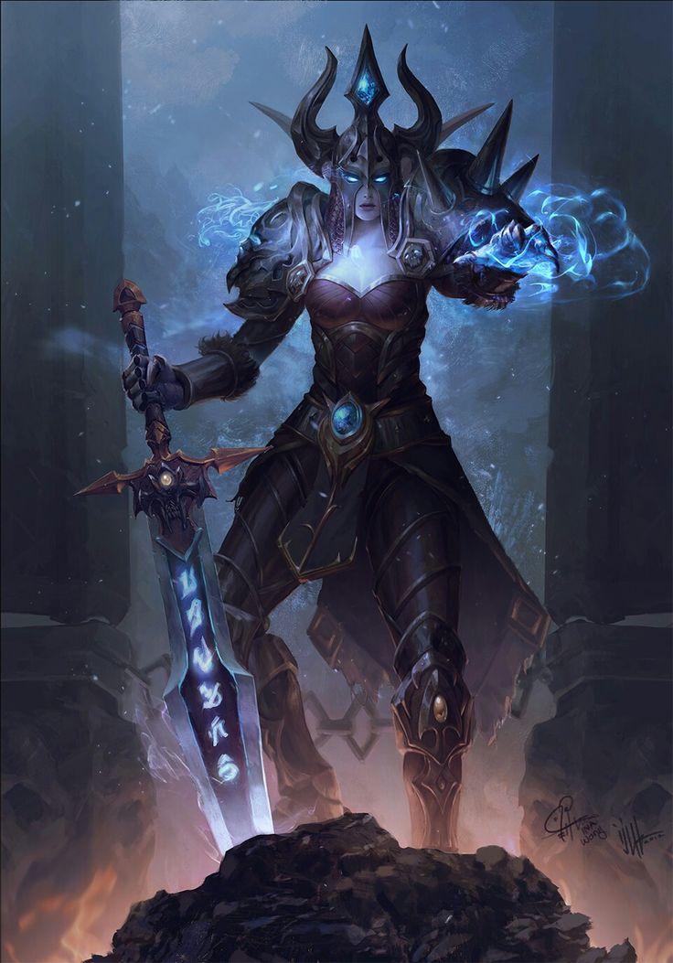 Cavaleira da Morte elfa noturna Créditos ao autor.