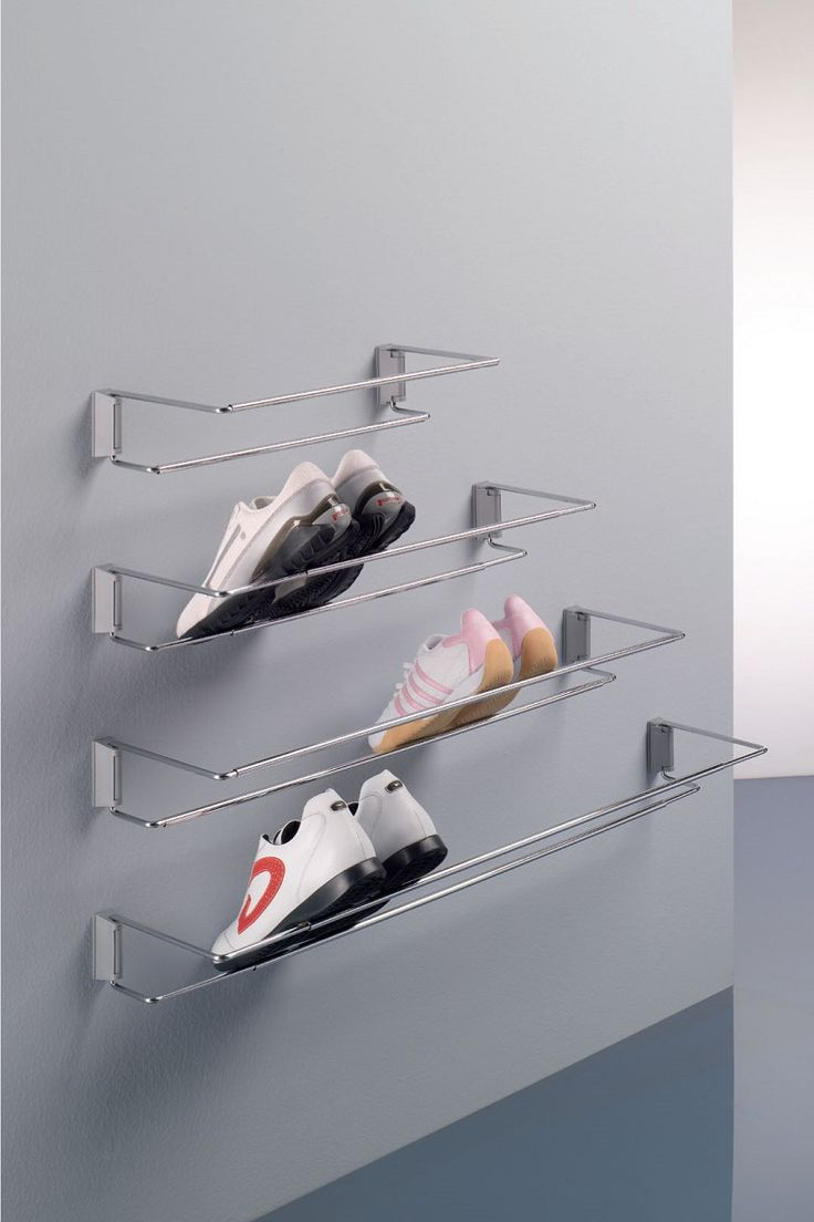 Anywhere you need to keep shoes tidy and easily accessed, the Ambos shoe racks make an ideal solution! Attach to walls in wardrobes, cupboards, garages, hallways  to create tidy, organised storage. Two adjustable width size options; 480-830mm and 830-1130mm,