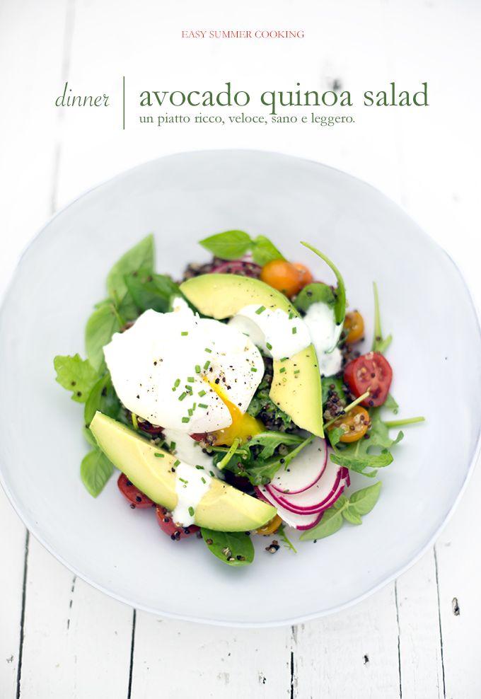 Trovata su pane&burro - insalata di quinoa e avocado con uovo in camicia