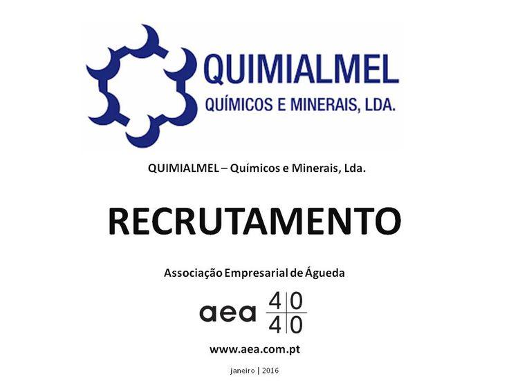 """A Associação Empresarial de Águeda divulga o  Recrutamento para a """"QUIMIALMEL – Químicos e Minerais, Lda."""" ______________ANÚNCIO_________________ https://www.facebook.com/180305488683047/photos/a.197609600285969.48389.180305488683047/1016047965108791/?type=3&theater  Ou em www.aea.com.pt  Faça LIKE em https://www.facebook.com/pages/Associação-Empresarial-de-Águeda/180305488683047 E  Acompanhe o FACEBOOK da AEA com mais informações úteis sobre: EMPREGOS, FORMAÇÃO, EMPREENDEDORISMO, etc."""