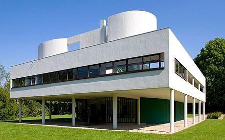 Le Corbusier's Villa Savoye, in Poissy, France