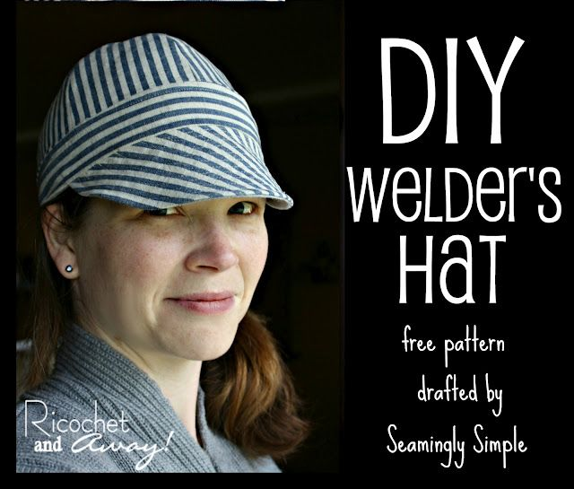 Reversible Welders hat - never sewed a hat before! The hubby would be happy if I got busy on making these.
