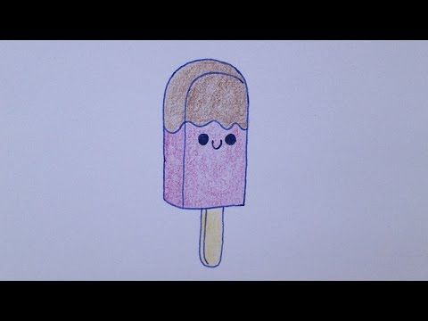 Como desenhar um picolé muito fofo - YouTube
