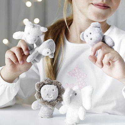 Suloiset sorminuket lapsille kehittävät lapsen mielikuvitusta  Animal Finger Puppets | Newborn Toys | Toys & Books | The Little White Company | The White Company UK