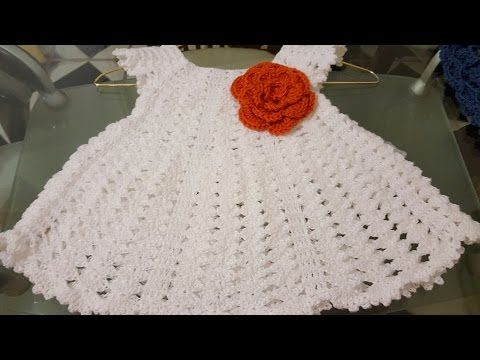 How to make girl step by step crochet dresses - YouTube