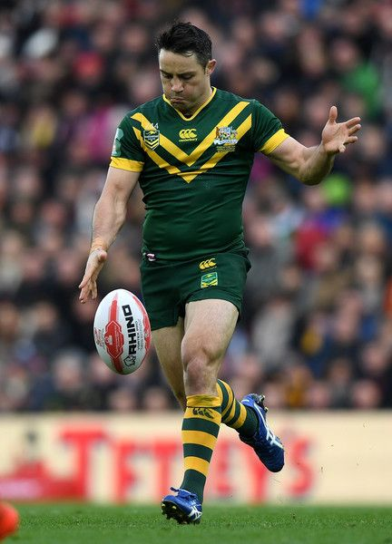 Cooper Cronk Photos Photos - Cooper Cronk of Australia during the Four Nations match between the New Zealand Kiwis and Australian Kangaroos at Anfield on November 20, 2016 in Liverpool, United Kingdom. - New Zealand v Australia - Four Nations Final