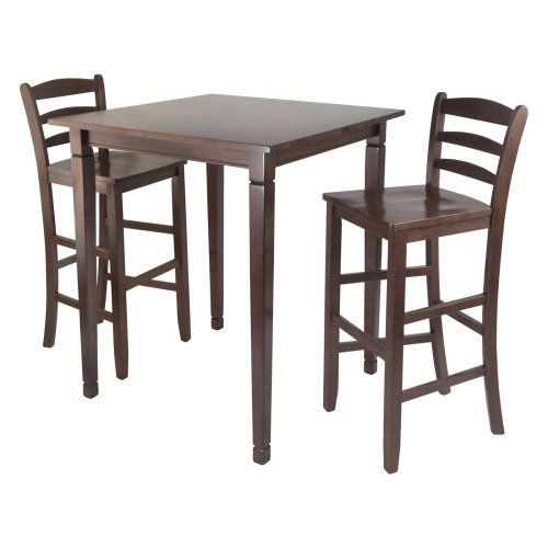 Winsome Kingsgate 3-Piece Pub Table Set with Ladder Back Stools - Bar & Pub Tables at Hayneedle