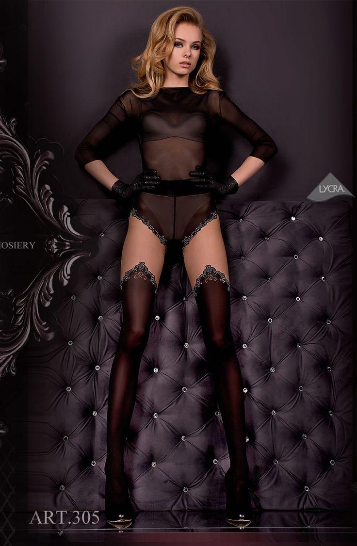 Ballerina 305 Tights Nero(Black)/Skin WOW!!!