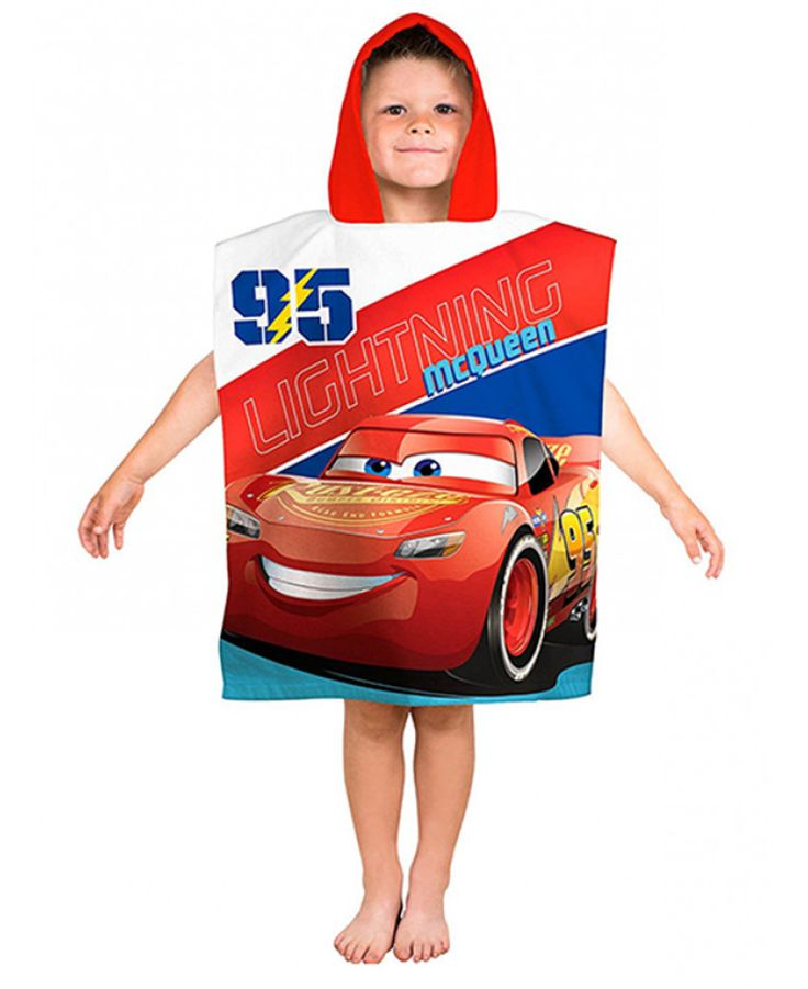 Disney Cars Lightning  Hooded Poncho Towel is deal for use at the beach, pool or at bath times. Free UK delivery available.