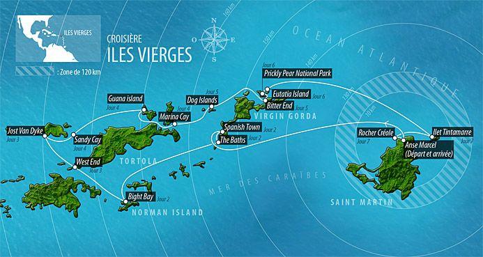 Croisière Iles Vierges Tortola BVI// Croisière aux Iles Vierges en voilier catamaran