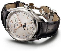 Linea 10119 blue satin and diamond watch for women - Baume et Mercier