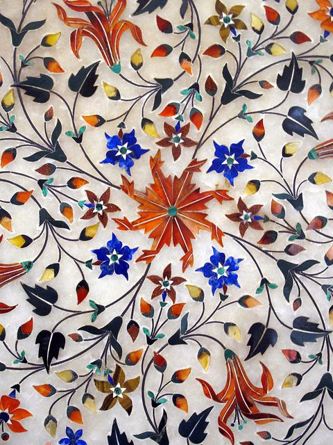 Exquisite Pietra Dura Inlay-work on Marble with Precious Gems-stones,  Jaipur City Museum, Jaipur, Rajasthan, India - Flickr - Photo Sharing!