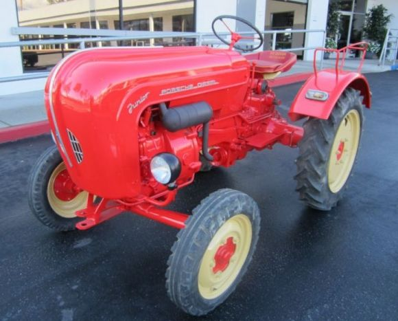 1958 Porsche Junior Tractor. This early Porsche posted frankly embarrassing lap times on the Nurburgring, but it could harvest barley faster than any of the company's later projects.