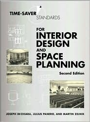 Time-Saver Standards for Interior Design and Space Planning, (0071346163), Joseph DeChiara, Textbooks - Barnes & Noble