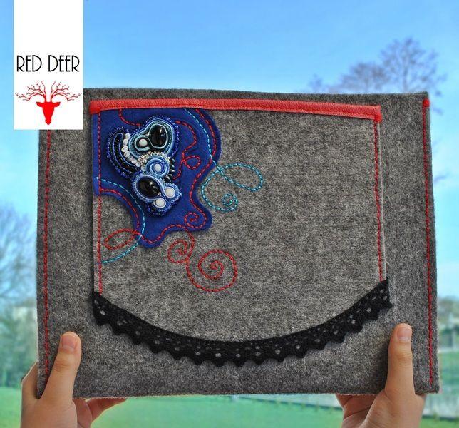 torebka kopertówka z haftem sutasz w RED DEER STUDIO na DaWanda.com